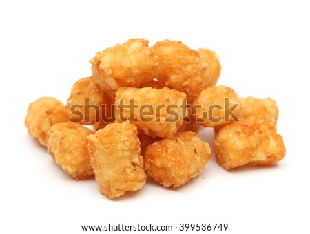 Tater tots isolated on a white background