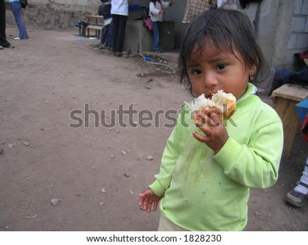 Tatiana, an impoverished Ecuadorian two year old - stock photo