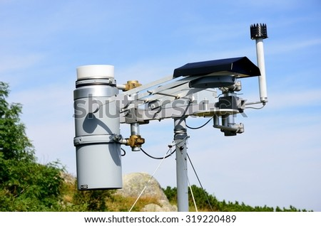 TATRA MOUNTAINS LOMNICA  SLOVAKIA  28 AUGUST  2015: Weather station in mountain area