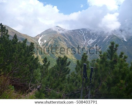 Tatry mountains in Slovakia in the spring time