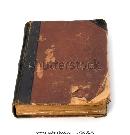 tattered book isolated on white background