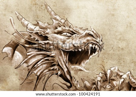 how to draw a medieval dragon