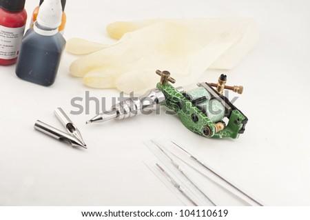 Tattoo Supplies - stock photo