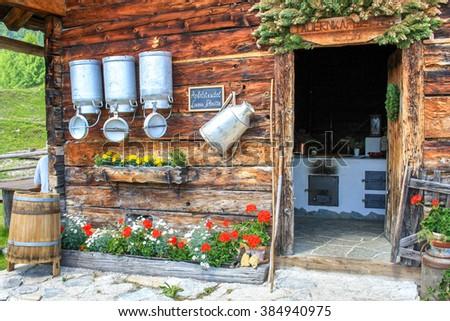Tauernkarleitenalm, Obertauern, Austria,  - stock photo