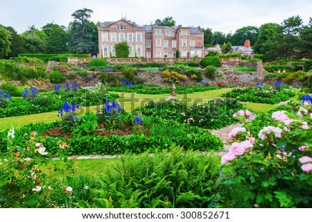 TAUNTON, ENGLAND - JULY 01, 2015: Hestercombe Gardens near Taunton, Somerset, is one of the most important heritage protected gardens of the 20th century, owned by the National Trust - stock photo