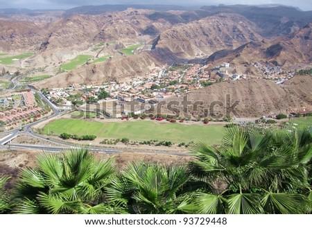 Tauro Valley, Gran Canaria - stock photo