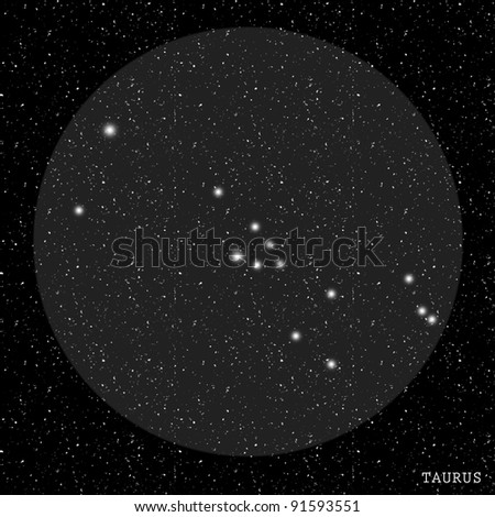 Taurus Zodiac Constellation - stock photo