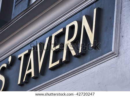 Tavern sign - stock photo