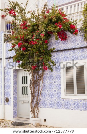 Tavira City, Algarve, Traditional architecture in the South Portugal