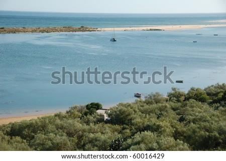 Tavira island and river, Algarve, Portugal in teh Summer - stock photo