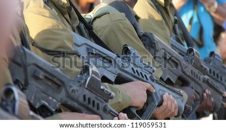 Tavor assault rifle - stock photo