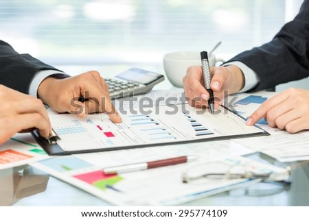 Tax, accounting, account. - stock photo