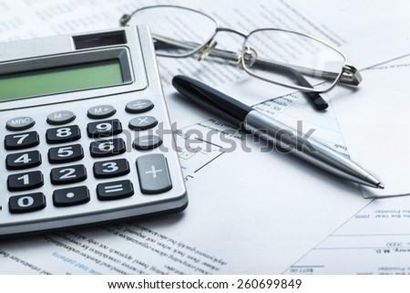 Tax, accounting, money. - stock photo
