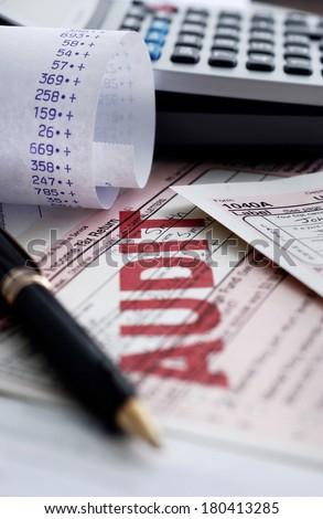 tax audit - stock photo
