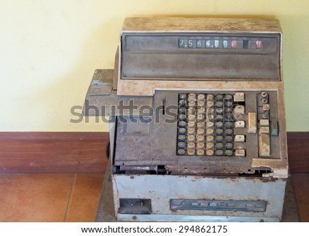 Tax-calculator old antique