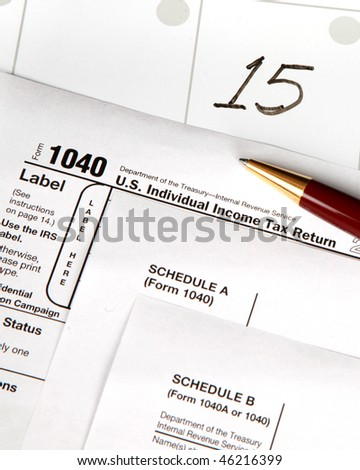Tax Day - vertical image - stock photo