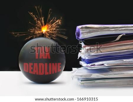 Tax deadline  - stock photo