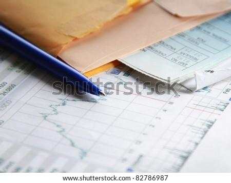 tax documents - stock photo