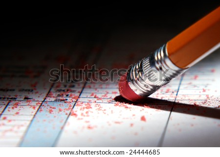 Tax Erase - stock photo
