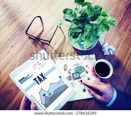 Tax Financial Exemption Refund Taxation Concept - stock photo