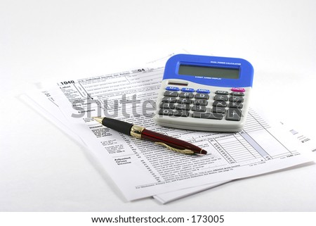 Tax Form - stock photo