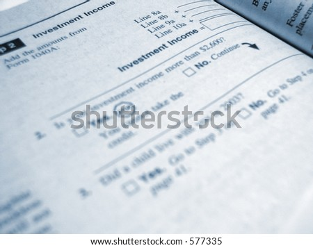Tax form from IRS