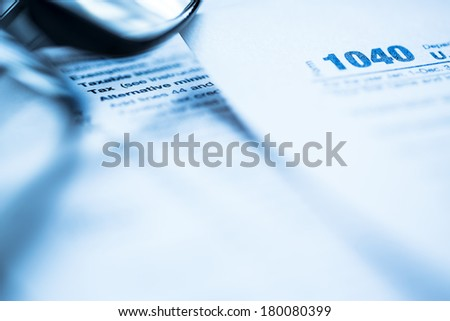tax forms - stock photo