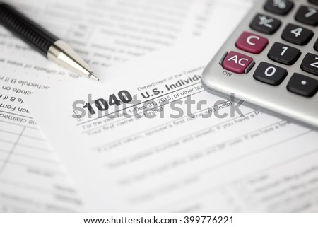 Tax forms background - stock photo
