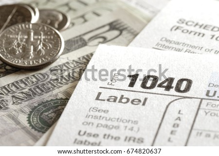 Tax Forms Irs Income 1040 Form Stock Photo Download Now 674820637