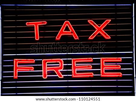 Tax Free - stock photo