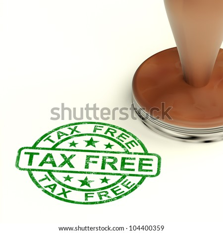 Tax Free Stamp Shows No Duty Shopping