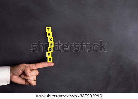 TAX FREE word with in form of stacked blocks - stock photo