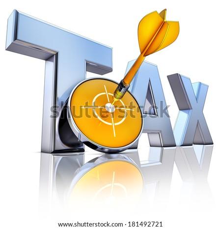 TAX icon - stock photo