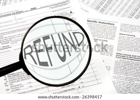 Tax Refund - stock photo