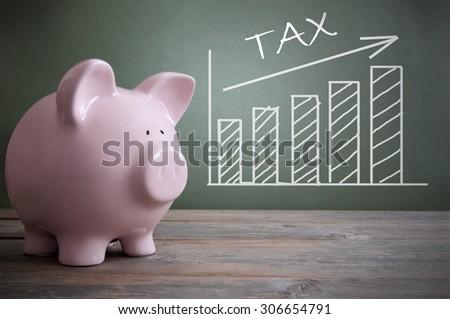 Tax rise - stock photo