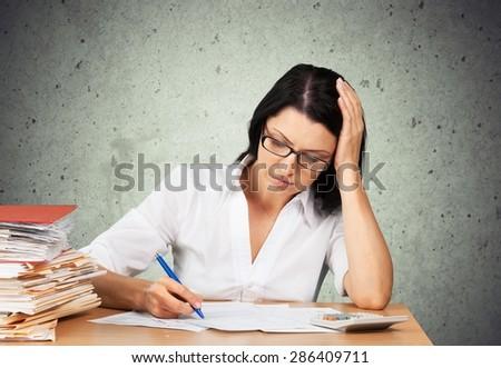 Tax, Tax Form, Bill. - stock photo
