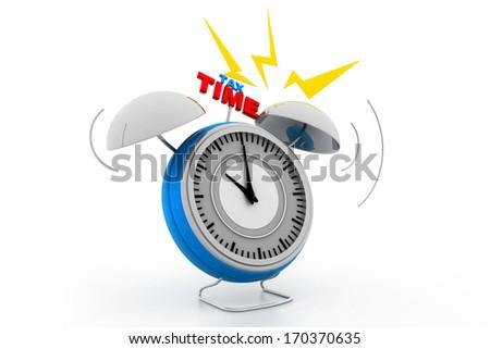 Tax time alarm - stock photo