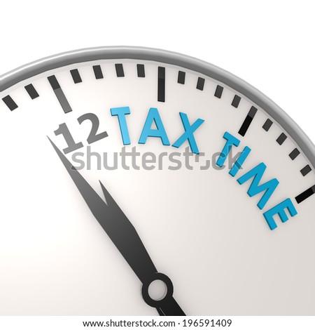Tax time clock - stock photo