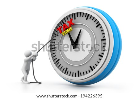 Tax time concept - stock photo