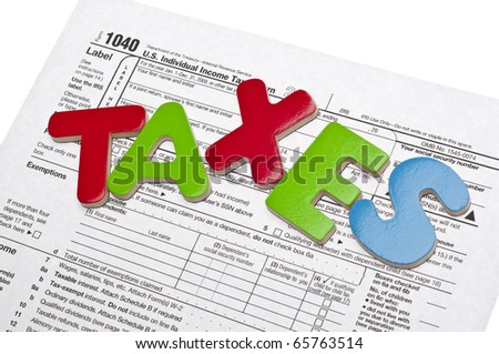 Tax Time Gives the Choice to File On-line or by Mail.  Concept Image. - stock photo