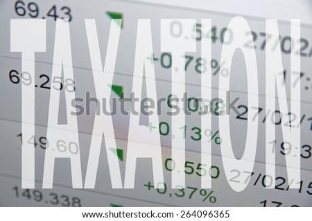 Taxation - stock photo