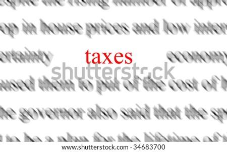 taxes - stock photo