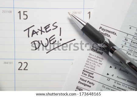 Taxes Due - stock photo