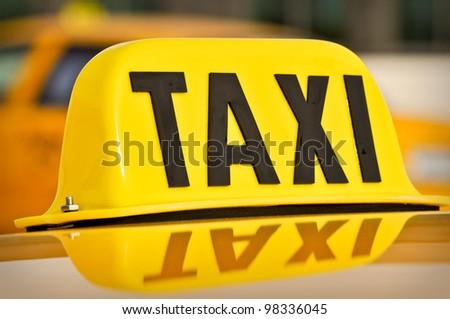Taxi - stock photo
