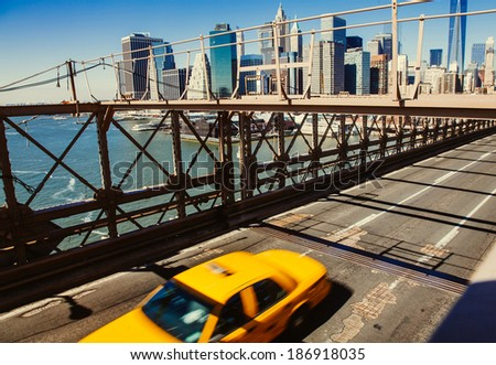 Taxi cab  in New York - stock photo