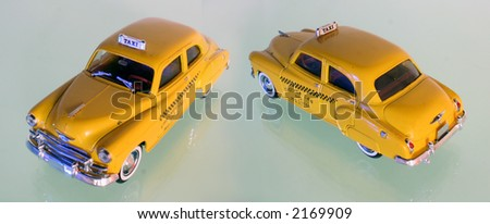 Taxi Cab model - stock photo