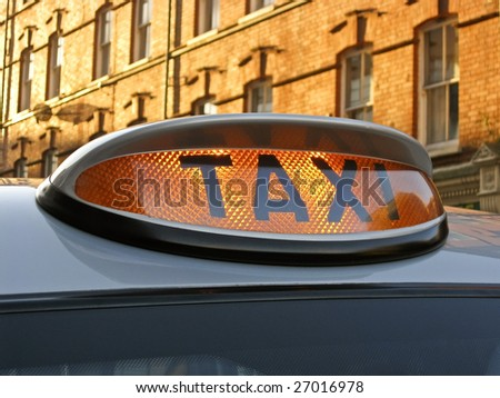 Taxi for Hire Light - stock photo