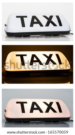 Taxi sign - stock photo