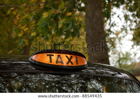 taxi sing - stock photo