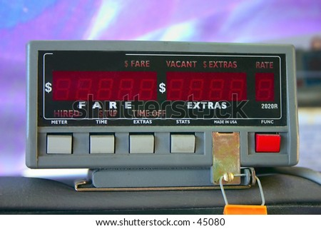 Taxicab Meter - stock photo